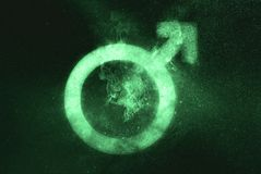 Male sex symbol. Green symbol. Symbol royalty free stock images