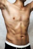Male sexy underwear model. In black underpants Stock Image