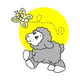 Male sheep icon in trendy design style. Male sheep icon isolated on white background. male sheep vector icon simple and modern flat symbol for web site royalty free illustration