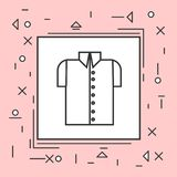 Male Shirt Icon Thin Line In Pink Frame. Vector Illustration Royalty Free Stock Photos