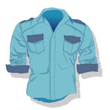 Male shirt illustration. Clothes collection. Stock Image