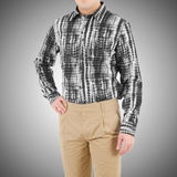 Male shirt isolated on white. The male shirt isolated on white Royalty Free Stock Image