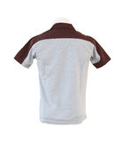Male shirt template on the mannequin on white background Stock Photos
