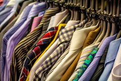 Male shirts close up Stock Photo