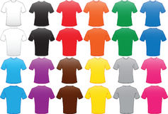 Male shirts template in many colors Stock Images