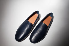Male shoe  from above Royalty Free Stock Image