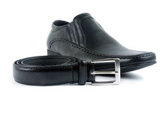 Male shoe with belt Royalty Free Stock Photo