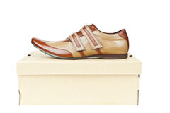 Male shoes in box Royalty Free Stock Photography