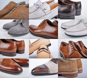 Male shoes collection. Men shoes over white background Stock Image