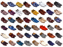 Male shoes collection. On white background Royalty Free Stock Photo