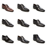 Male shoes collection Stock Photo