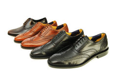 Male shoes isolated Stock Images