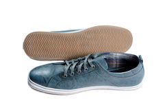 Male shoes. Male walk shoes over white Royalty Free Stock Image