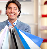 Male shopper Stock Photography