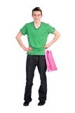 Male shopper Stock Image