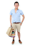 Male with shopping bag Royalty Free Stock Image