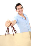 Male with shopping bag Stock Image