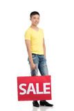 Male shopping Royalty Free Stock Photo