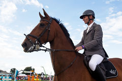 Male showjumper Royalty Free Stock Image