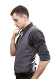 Male side view portrait royalty free stock images