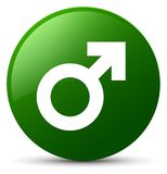 Male sign icon green round button Royalty Free Stock Image