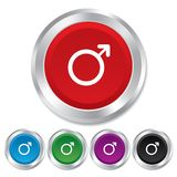 Male sign icon. Male sex button. Royalty Free Stock Photography