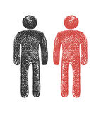 Male sign vector. Hand drawn. Vector eps8 Royalty Free Stock Image