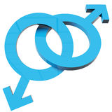 Male  signs Royalty Free Stock Image