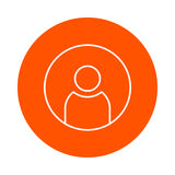 Male silhouette avatar,  monochrome round icon, flat style Royalty Free Stock Photo