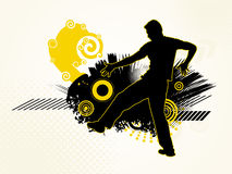 Male Silhouette On A Grunge Background Stock Photography