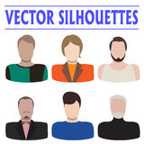 Male silhouettes Royalty Free Stock Photo