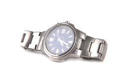 Male silver watches Royalty Free Stock Photos