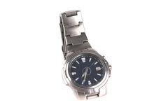 Male silver watches Stock Photos