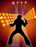 Male Singer & Dancer Royalty Free Stock Photo