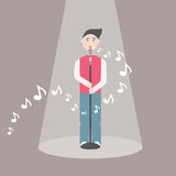 Male singer - vector illustration EPS10 Stock Photography
