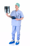 male sjuksköterskaarbete för admin Royaltyfri Bild