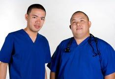 male sjuksköterskor Fotografering för Bildbyråer
