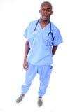 male sjuksköterska för afrikansk amerikan Royaltyfria Bilder