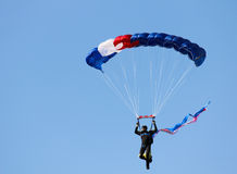 Male skydiver. At 2011 Ballunar Festival, Johnson Space Center, Houston, TX Royalty Free Stock Photo