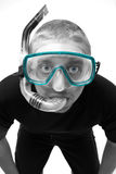 Male in Snorkel Royalty Free Stock Image
