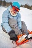 male snowboarder Arkivbilder
