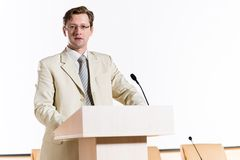 Male speaker Royalty Free Stock Photography