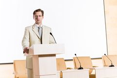 Male speaker Royalty Free Stock Photo
