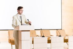 Male speaker Stock Image