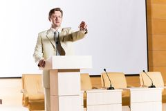 Male speaker Royalty Free Stock Images