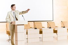 Male speaker Stock Photography