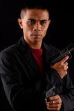 Male Special Operatives Agent. With Two Hand Guns Stock Image