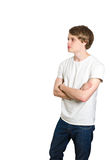 Male standing with crossed arms Stock Photography