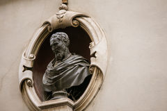 Male statue florence. Religious statue on a Cathedral in italy Stock Image