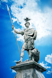 Male statue with a lance. An image of a beautiful male statue with a lance Stock Images